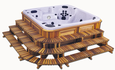 3 Tier Hot Tub Stair Package Bend Oregon Mauls